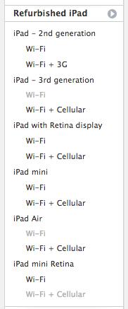 Schermata 2014 04 18 alle 10.57.24 Apple Store: approdano gli iPad Mini Retina Display rigenerati