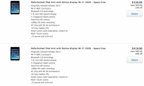 ipadmini 620x393 Apple Store: approdano gli iPad Mini Retina Display rigenerati