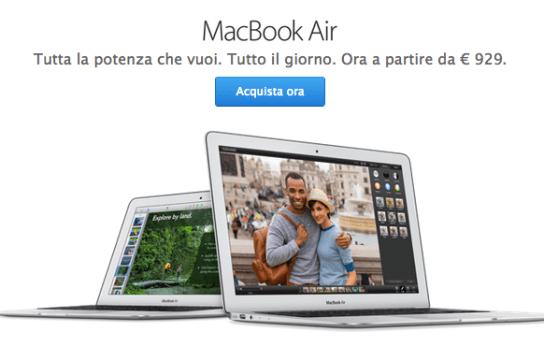macbookairapple Apple: MacBook Air con nuovi processori
