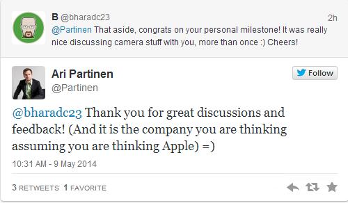 aripartnennokia Appleassume lEx ingegnere Nokia Ari Partinen per potenziare il settore delle fotocamere