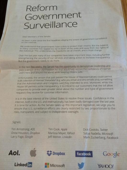 apple3 Apple, insieme ad altri big della Silicon Valley, firma una richiesta al Senato per la Privacy