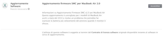 macbookair.jpg 620x141 Nuovo aggiornamento firmware SMC per MacBook Air 2.0, risolve il problema della durata della batteria