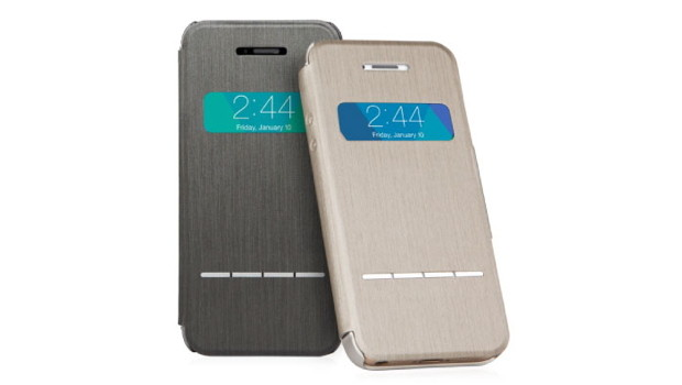 MoshiSenseCover Mobile Fun: Custodia SenseCover Moshi per iPhone 5s / 5 Brushed Titanium