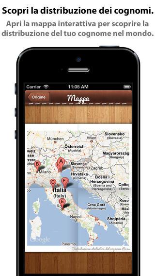 app36 iCognomi, unApplicazione con cui potrai scoprire la storia, il significato, le radici e i luoghi tipici dei cognomi
