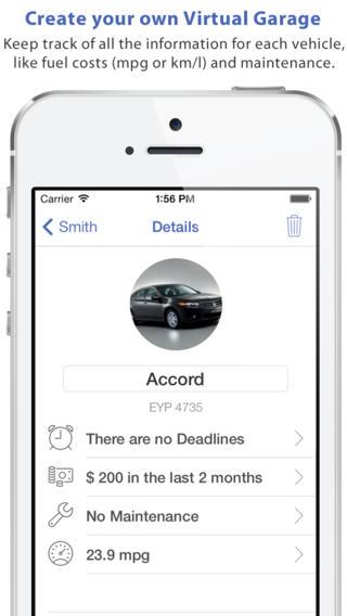 app38 Auto Mobile unApp che permette di tenere traccia delle vostre scadenze e dei costi dei vostri veicoli per la manutenzione