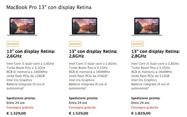 retinamacpro Apple ha rinnovato la linea dei MacBook Pro Retina, da 13 e 15 pollici.