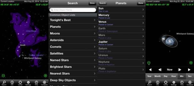 Menu ricerca 620x274 Skysafari: guardare le stelle con laiuto di iPhone