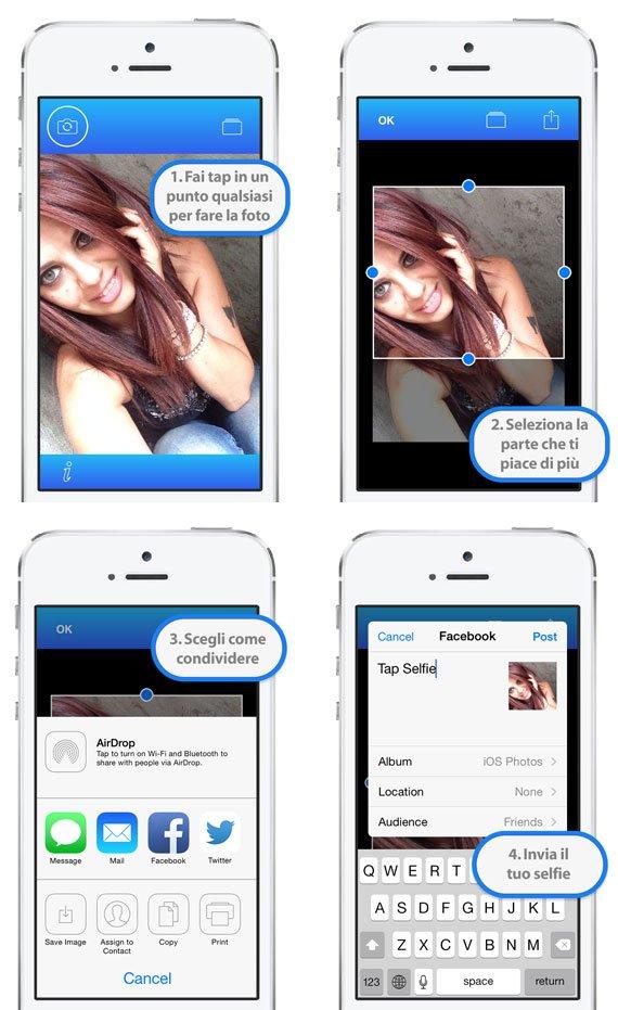 Tap Selfie it Scatta selfie perfetti con Tap Selfie per iPhone e iPad