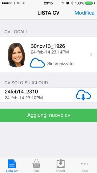 appicv4 620x1100 iCV è unApp che ti permette di creare in modo semplice e intuitivo il tuo curriculum in Formato Europeo