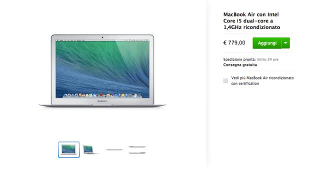 applericondizionati2 620x338 I MacBook Air 2014, presentati da Apple recentemente, sono già presenti tra i ricondizionati, dove si trovano ad un prezzo più conveniente