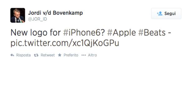 iphone6logo 620x282 [Rumors] Una nuova immagina su twitter, che concerne liPhone 6, questa volta riguarda la dicitura del marchio del nuovo iPhone di Apple