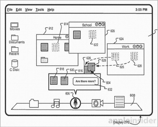 sirimacapple1 620x497 Apple deposita un nuovo brevetto probabilmente per integrare Siri nei Mac