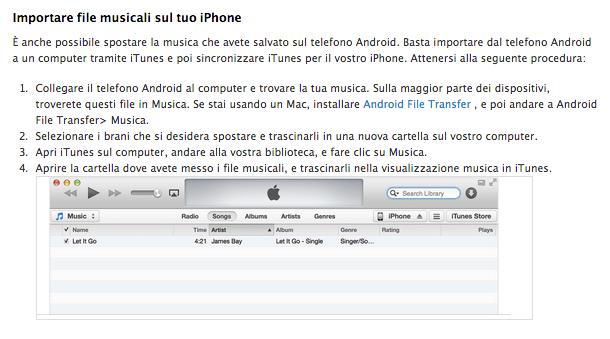 Schermata 2014 09 17 alle 09.53.40 [Guida] Come passare da Android ad iOS, ci pensa Apple