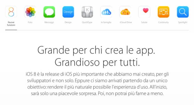appleios8 620x338 iOS 8 sarà disponibile dal 17 settembre