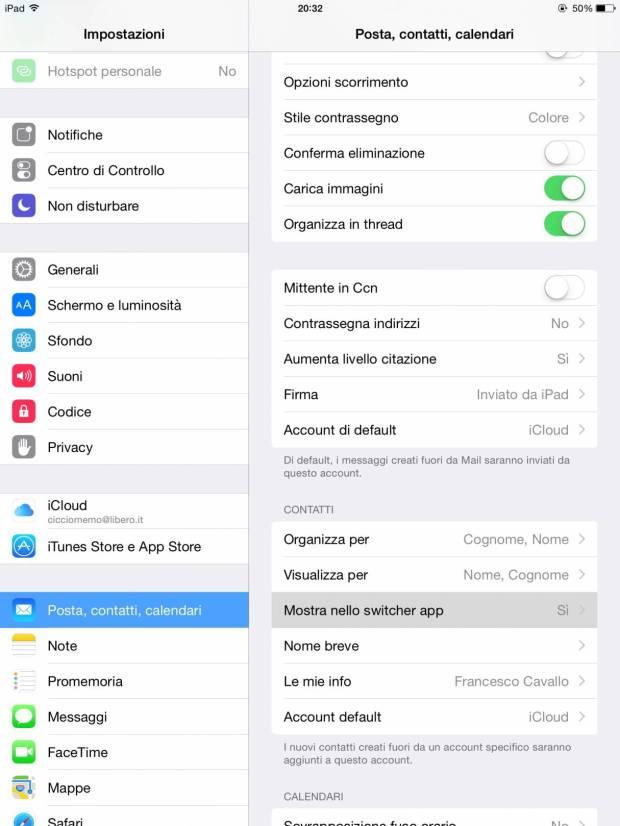 multitaking1 620x826 [Guida] IOS 8: come rimuovere i Contatti Recenti dal multitasking su iPhone ed iPad