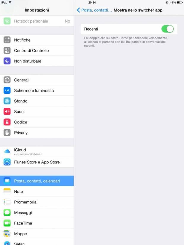 multitasking2 620x826 [Guida] IOS 8: come rimuovere i Contatti Recenti dal multitasking su iPhone ed iPad
