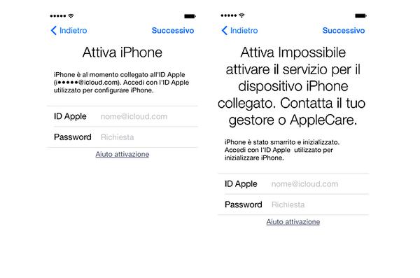 Schermataiphone [Guida] Blocco attivazione di Trova il mio iPhone: rimozione di un dispositivo dallaccount di un precedente proprietario