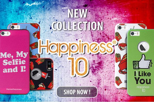 puro La nuova collezione di cover per iPhone 4/4s e iPhone 5/5s, nata dalla collaborazione tra Puro e Happiness