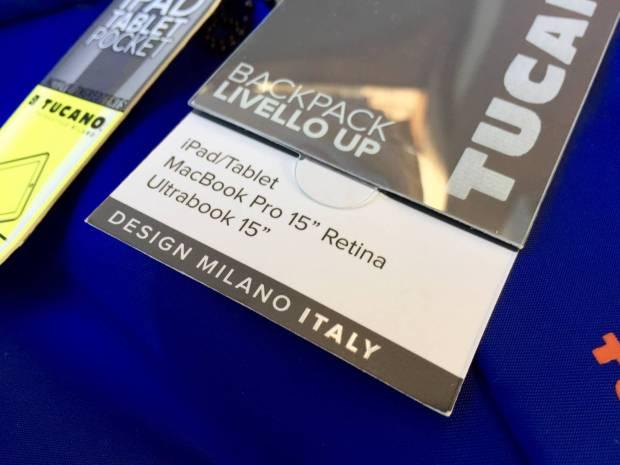 Tucano 620x465 Tucano presenta la nuova collezione, Livello Up, zaino per MacBook Pro 15 e Ultrabook 15