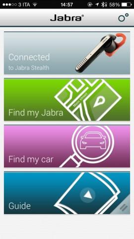 jabraApp1 620x1102 Jabra Stealth, comodo auricolare con tecnologia Bluetooth 4.0, che offre chiamate nitide con audio in alta definizione, mostrato nel corso dell IFA 2014