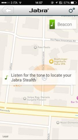 jabraApp3 620x1102 Jabra Stealth, comodo auricolare con tecnologia Bluetooth 4.0, che offre chiamate nitide con audio in alta definizione, mostrato nel corso dell IFA 2014