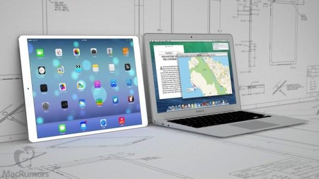 12 9 ipad macbook air 620x348 [Rumors] Un nuovo schizzo di iPad Pro è emerso da un lavoratore di Foxconn