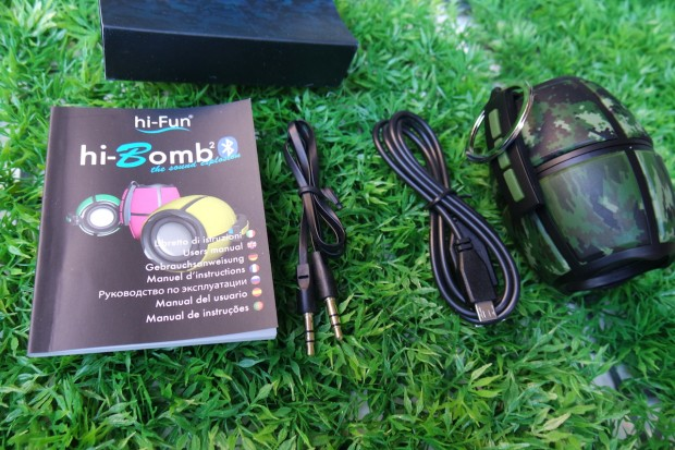 hiBomb1 620x413 hi Bomb² Bluetooth è una granata pronta a esplodere di musica!