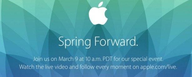 apple evento 9 03 2015 Evento Apple 9 marzo: Spring Forward con tante novità, anche lApple Watch?