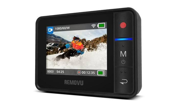 removu comando remoto gopro lcd polso Il supporto per iPhone e la torcia impermeabile: nuovi accessori per GoPro su Gocamera