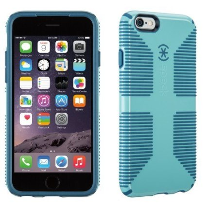 spk a3052 candyshellgrip for iphone6 riverbluetahoeblue straightfront3qbackright 1 1 Recensione: pronte le nuove custodie di Speck per iPhone 6