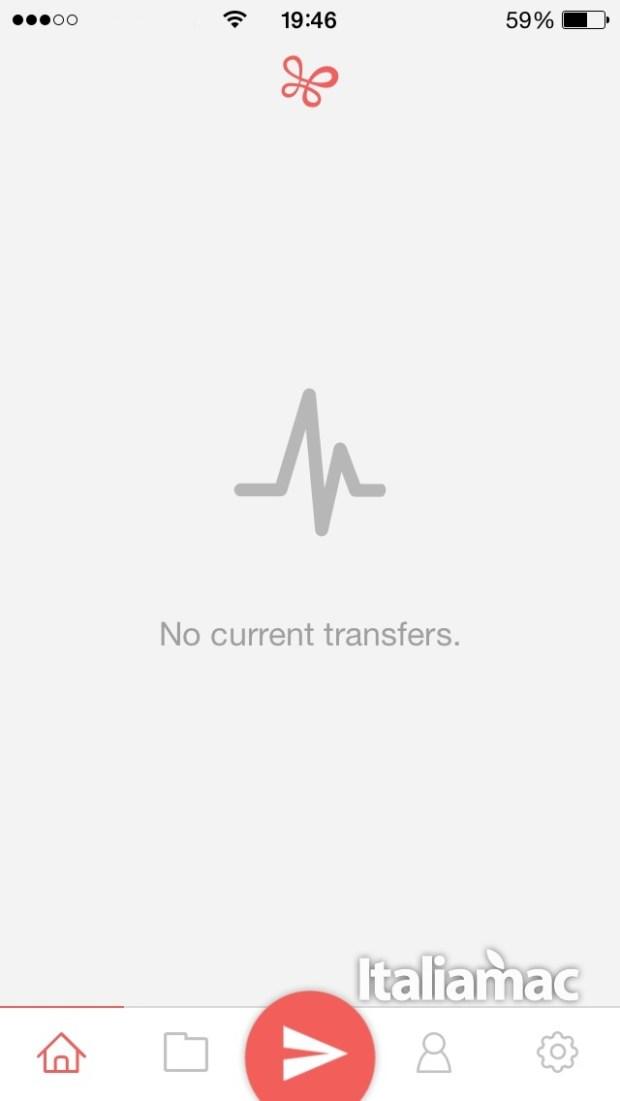 infinit ios1 620x1101 Infinit: il nuovo modo di condividere file ora anche su iOS