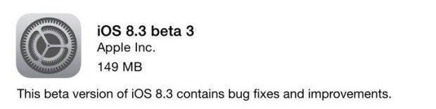 ios 8.3 620x156 Apple rilascia iOS 8.3 la sua prima beta pubblica