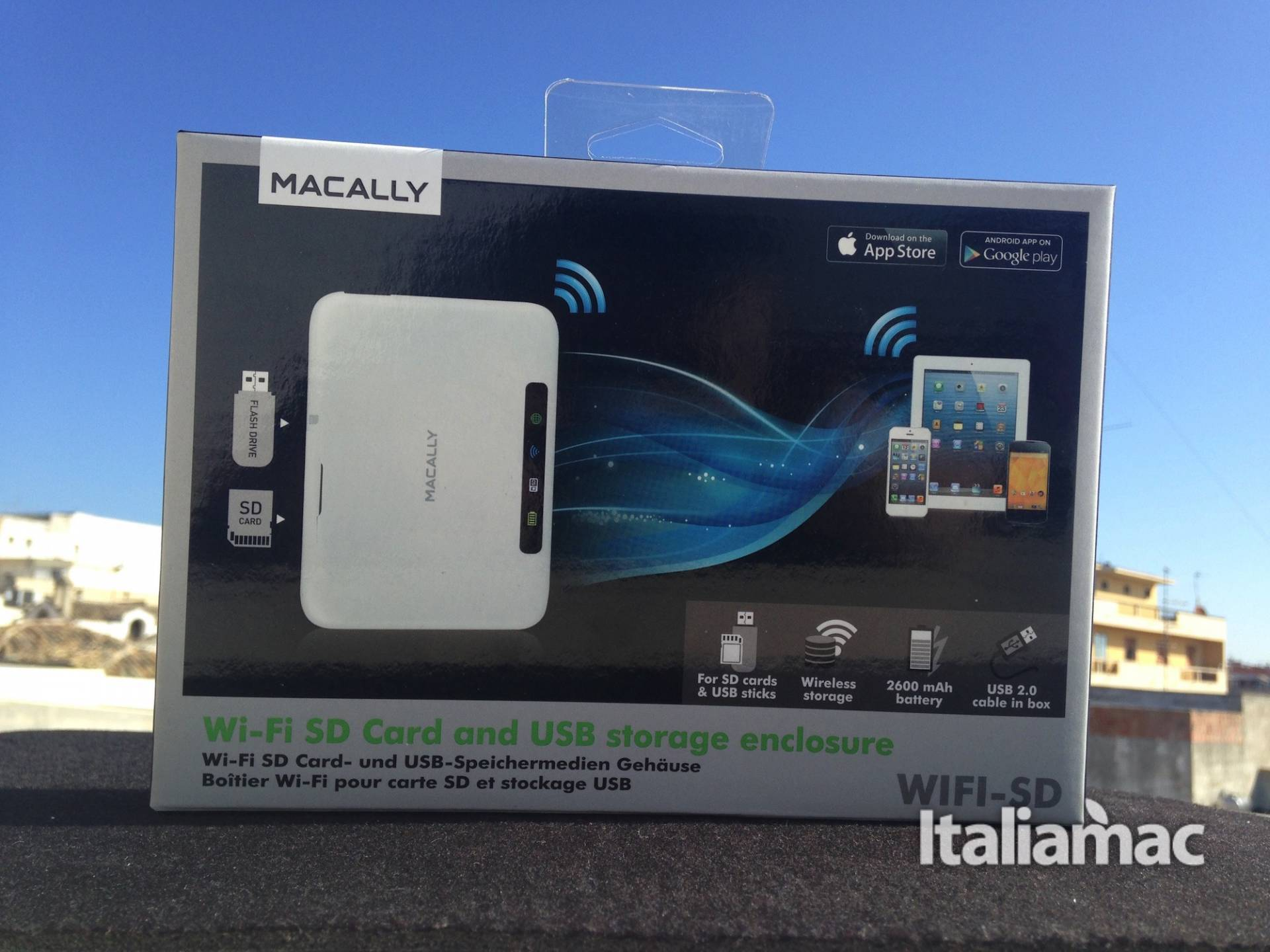 Macally Wi-fi sd card confezione