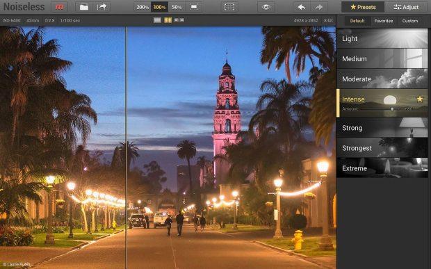 noiseless gui presetspanel 620x387 Macphun lancia una nuova app per la riduzione delle imperfezioni, Noiseless