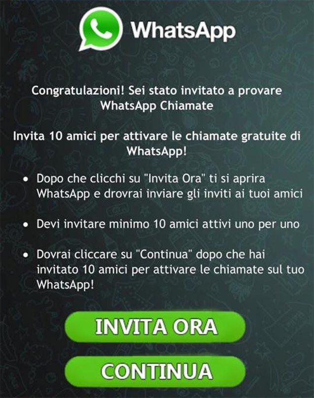 truffa whatsapp chiamate voip WhatsApp, attenzione alla nuova truffa: falsi link per attivare le chiamate vocali