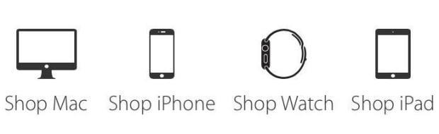 shop mac iphone watch ipad 620x190 Apple potrebbe lanciare nuovi Apple Watch Sport in giallo e oro rosa, nuovi iMac e iPad Mini