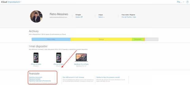 schermata 2015 08 14 alle 10.44.37 620x280 Apple permette di ripristinare i contattati, calendari e promemoria eliminati da iCloud