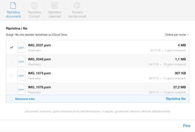 schermata 2015 08 14 alle 10.51.26 620x421 Apple permette di ripristinare i contattati, calendari e promemoria eliminati da iCloud