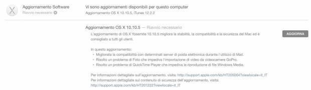 schermata 2015 08 14 alle 11.15.53 620x181 OS X 10.10.5 Yosemite disponibile al Download
