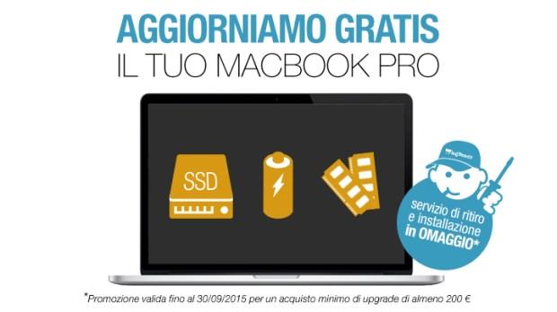 aggiorniamo gratis il tuo macbookpro1 620x348 BuyDifferent potenzia gratis MacBook Pro: ultimi giorni di promo per linstallazione in regalo