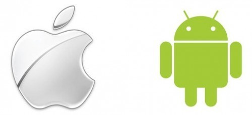 apple android logos 500x229 I fan Android si lamentano dellApp Passa a iOS supportata da iOS 9