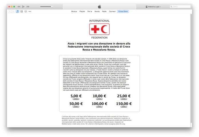 screenshot 2015 09 18 15.28.521 Apple accetta donazioni alla Croce Rossa per la crisi dei migranti