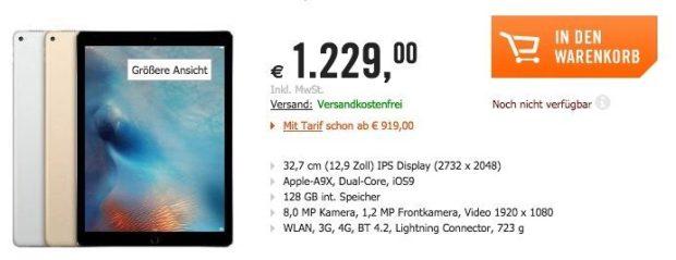 ipad pro preorder 620x239 Apple TV 4 e iPad Pro: pre order aperti in Europa