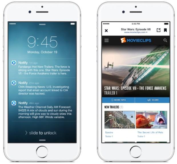 notiffy for ios iphone screenshot 002 620x573 Facebook rilascia Notify per iPhone, un servizio di news, sport e molto altro