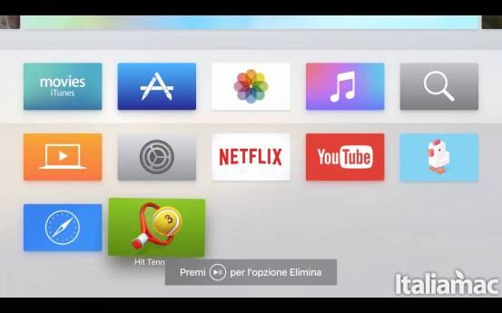 schermata appletv  Come eliminare un app da Apple TV