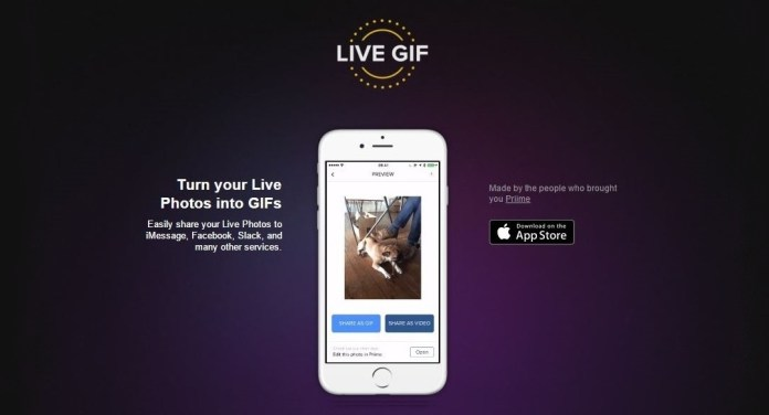 Priime, Live GIF