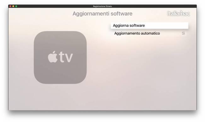 Aggiornamento Software Apple TV 4