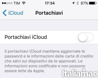 portachiavi icloud Problemi di batteria con iOS 9? Ecco come risolverli