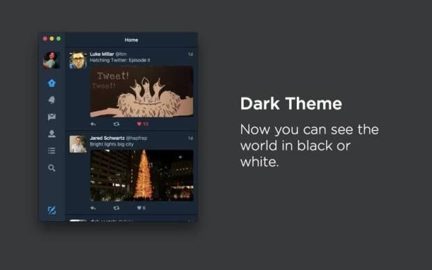twitterformacdarktheme 800x500 620x388 Twitter Mac si aggiorna con nuove feature e grafica rinnovata