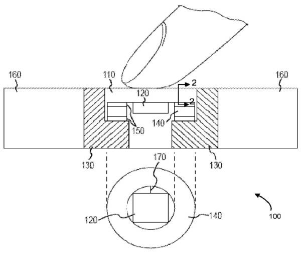 apple patent force sensing touch id drawing 002 Apple brevetta un nuovo Touch ID con 3D Touch